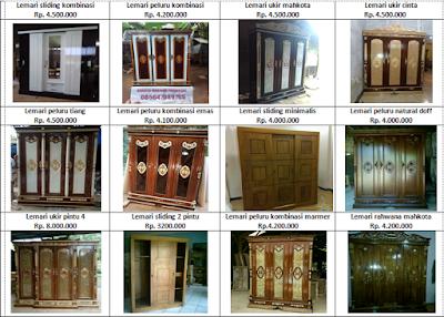 Daftar harga lemari pakaian ukir jepara
