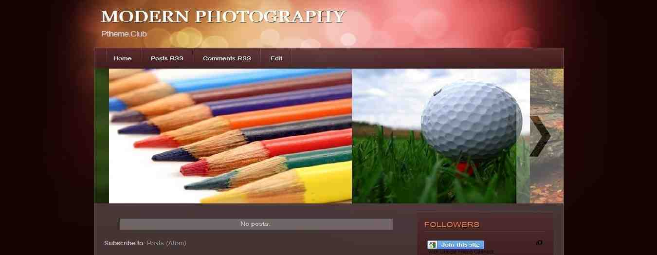 Modern Photography - Photography Blogger Template - Photographer