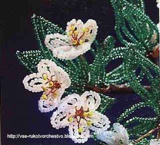 Дерево цветущая вишня из бисера. Мастер-класс