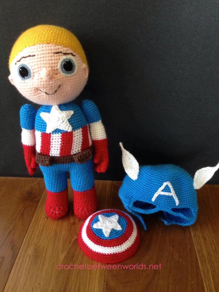 Crochet Between Worlds Captain America Avengers Assemble