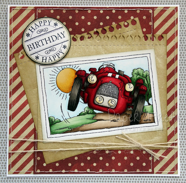 Masculine card with vintage car (image from LOTV)