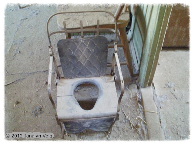 Antique toilet seat, Bodie, California