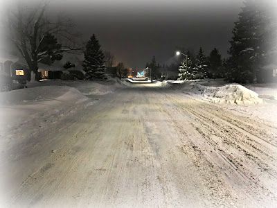 January 3, 2018 Out walking on a cold crisp winter evening