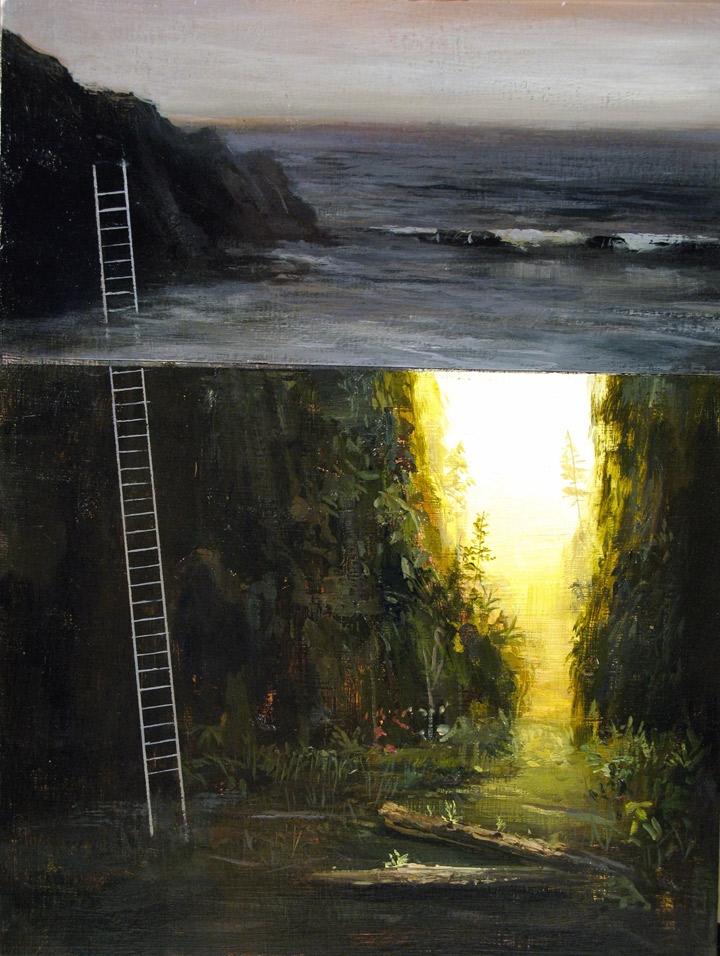 09-Oregon-Ladder-Jeremy-Miranda-Paintings-of-Surreal-Collages-of-interiors-and-exteriors-www-designstack-co