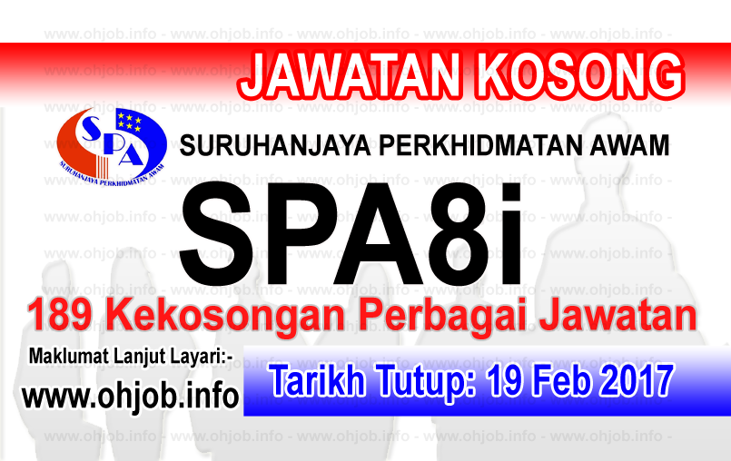 Jawatan Kerja Kosong SPA - Suruhanjaya Perkhidmatan Awam Malaysia logo www.ohjob.info februari 2017