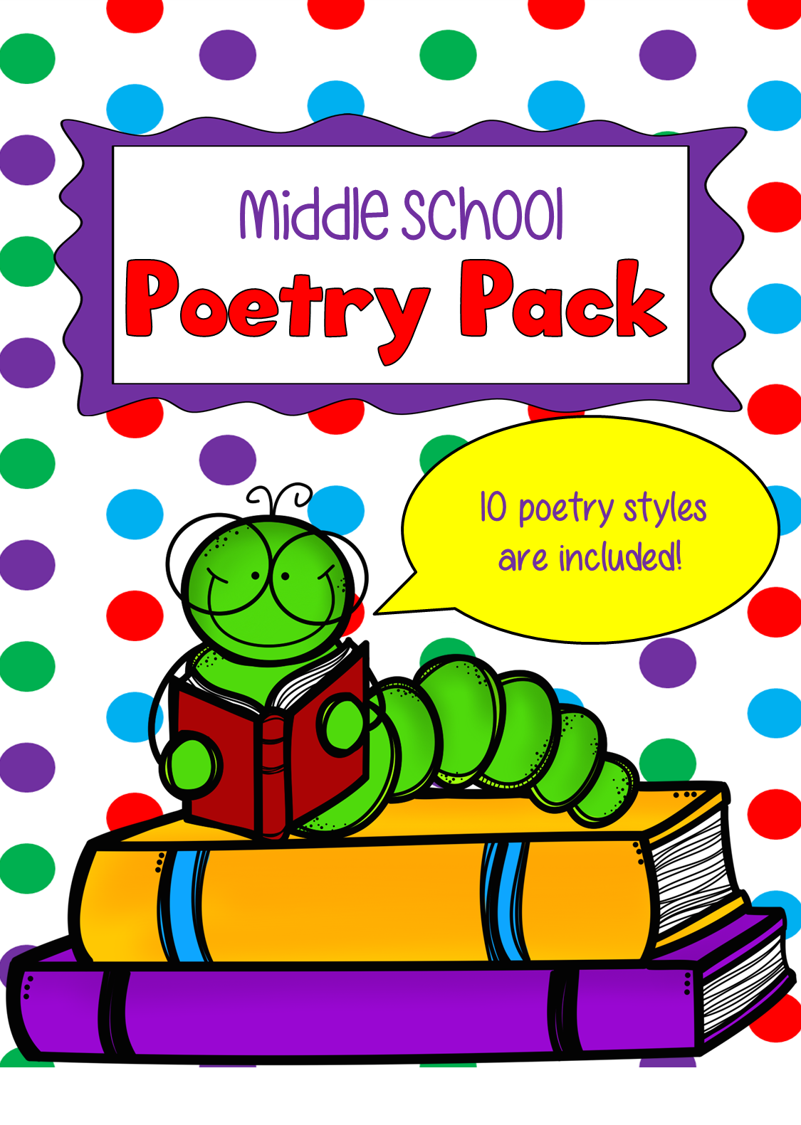 One Teacher S Adventures No Prep Middle School Poetry Pack