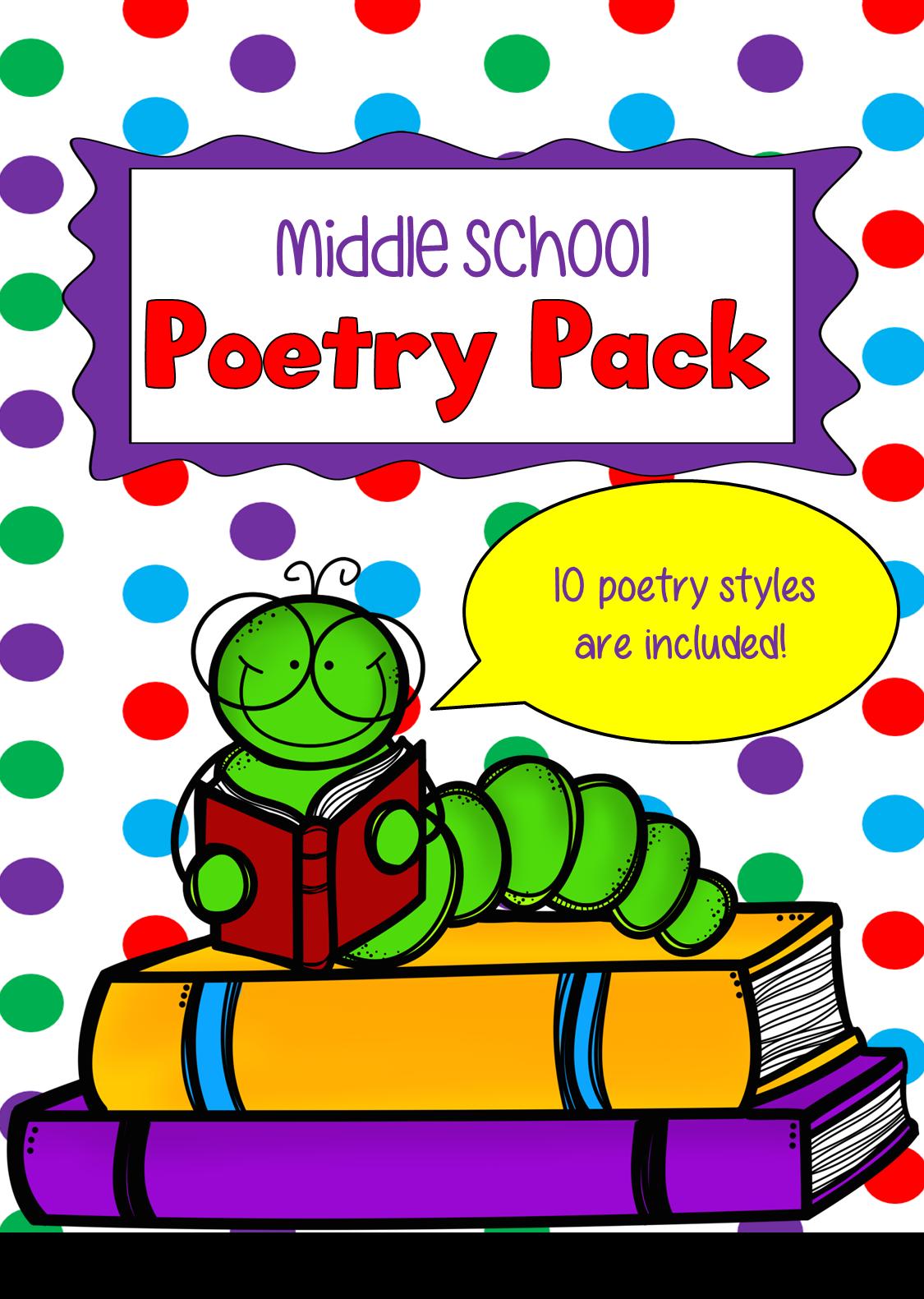 One Teacher S Adventures No Prep Middle School Poetry Pack