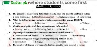 1st Year Computer Chapter 3 MCQs Solved pdf - 11th class