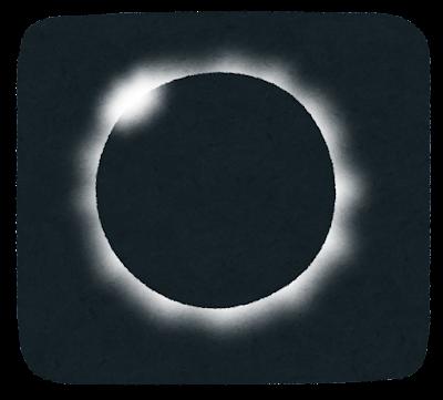 日食のイラスト