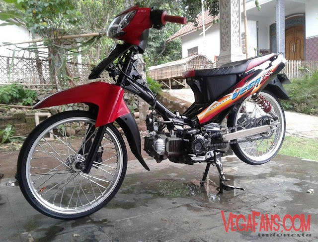 Modifikasi Vega R New Merah Modif Standar Simple