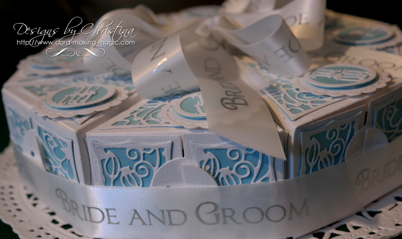 Bride And Groom Cake Slice Box