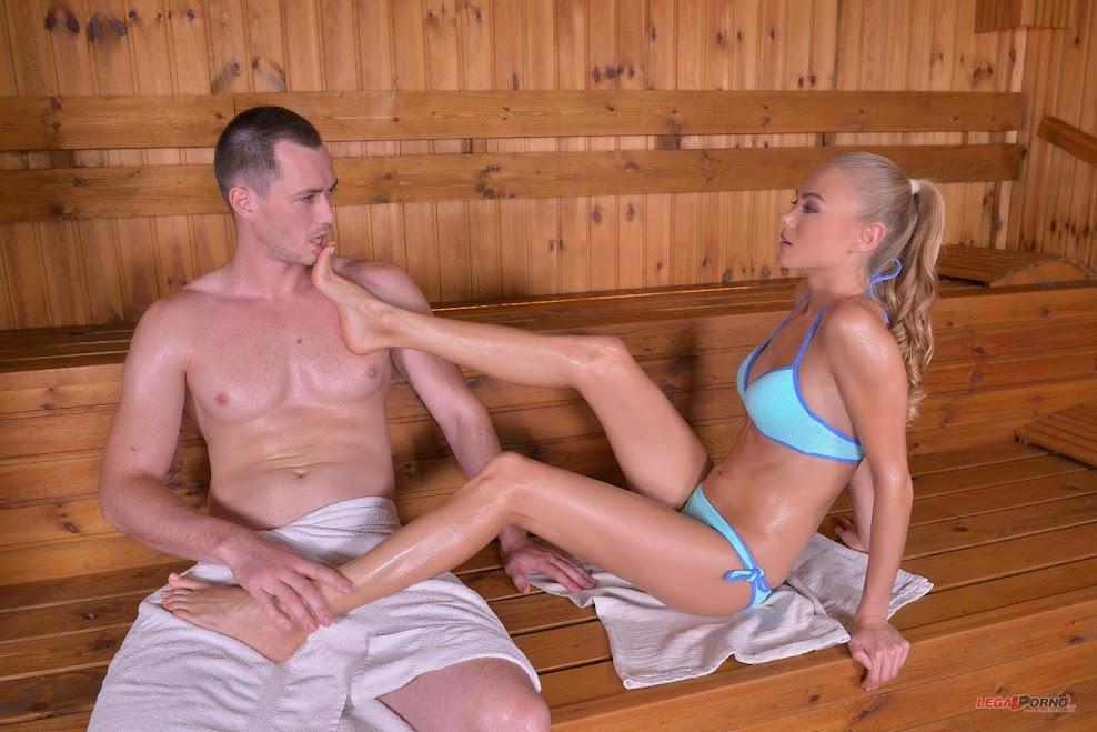 Nancy A - Sizzling Hardcore Sex in the Sauna - idols