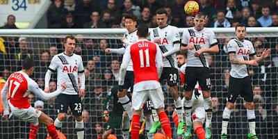 10 Pemain Arsenal Imbangi Tottenham Hotspur
