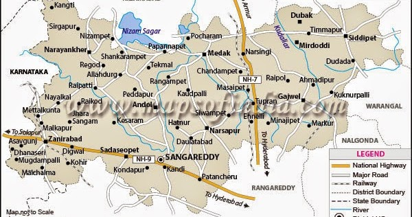 Medak District Map « Adilabad,Karimnagar,Nizamabad,Medak