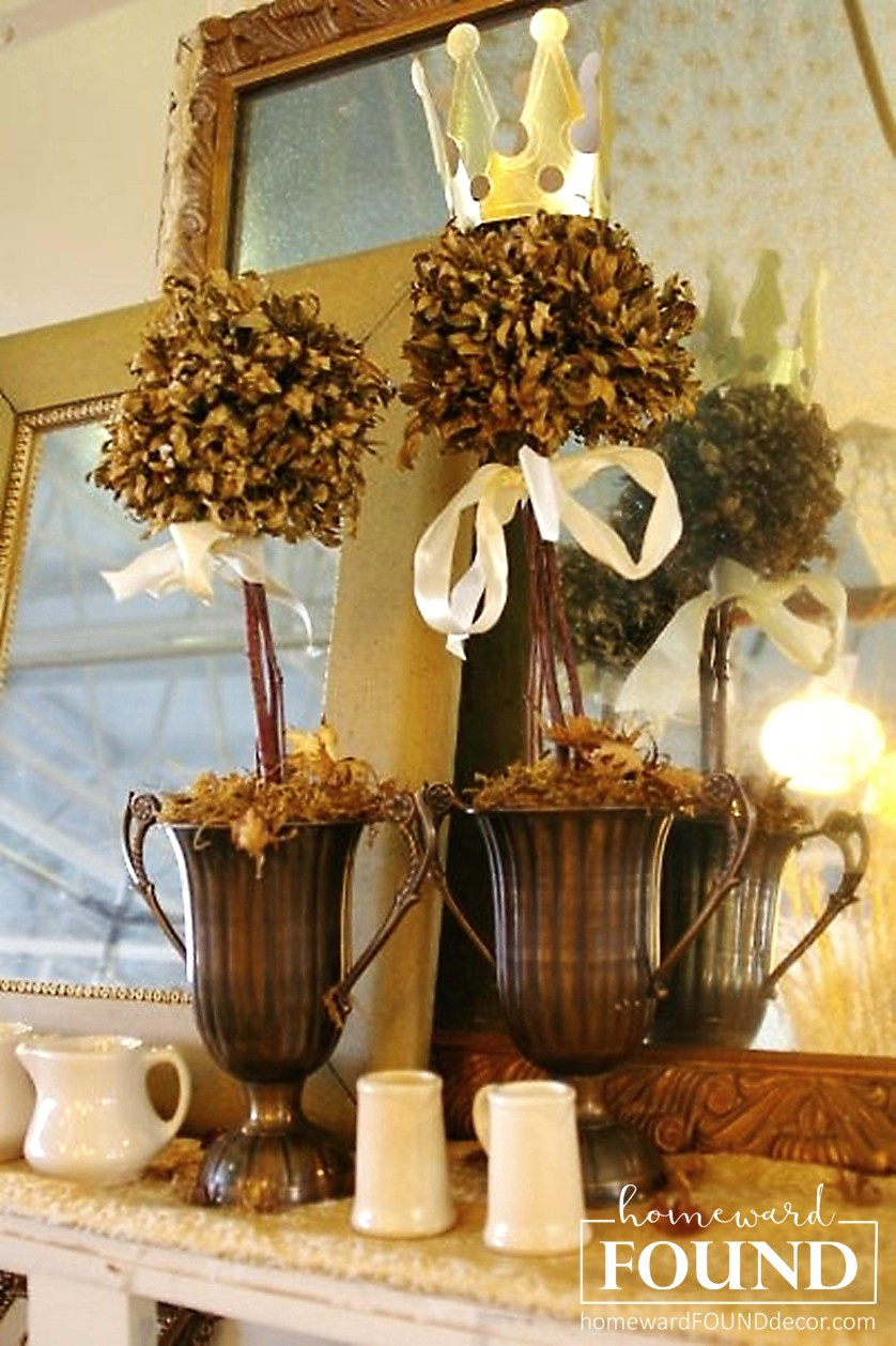 thrifty weekend makeover part i homewardfound decor.htm refresh those dried topiaries  homewardfound decor  dried topiaries  homewardfound decor