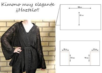 Kimono de tela de encaje como hacerlo