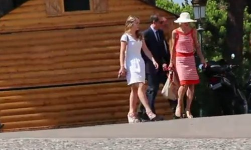 Charlotte Casiraghi, Gad, Raphaël and Princess Alexandra arrive at Pierre Beatrice wedding