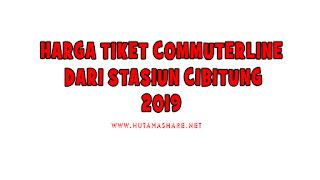 Harga Tiket Commuterline Dari Stasiun Cibitung Terbaru 2019