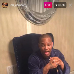 Cam'ron Gun Charge IG Live