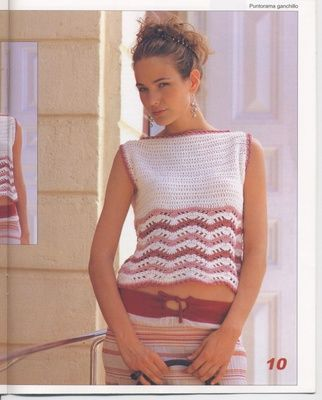 10 MODELS OF BEAUTIFUL poleras for crocheting PATTERNS WITH GRAPHICS 2015-2016