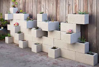 Make A Cinder Block Garden Wall