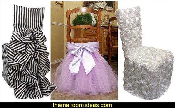 Fun chair covers - great for parties, weddings, showers