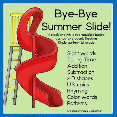 https://www.teacherspayteachers.com/Product/Bye-Bye-Summer-Slide-1857848