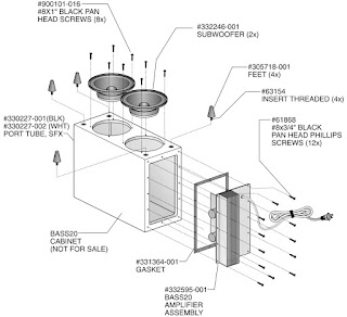 JBL BASS 20 Powered Subwoofer – Circuit diagram