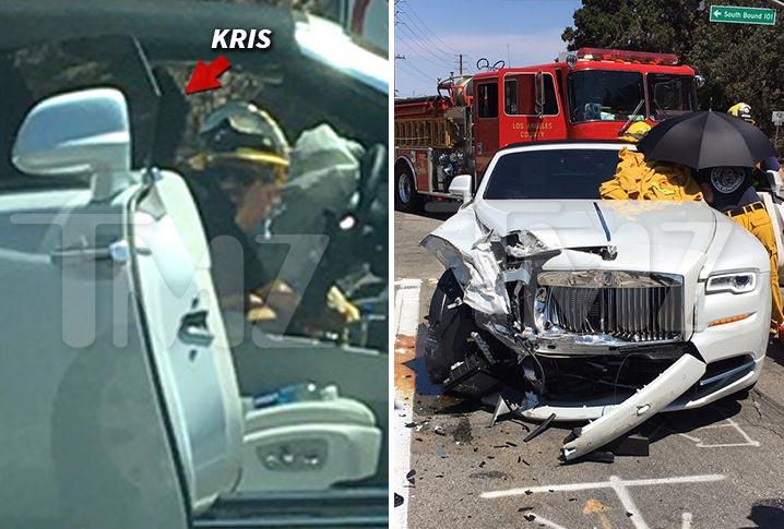 """Mom Kardashian Kris Jenner crashes her white Rolls Royce, Kylie Jenner says she's """"OK"""""""