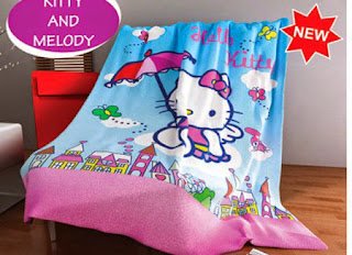 Selimut Kintakun Flannel Kitty and Melody