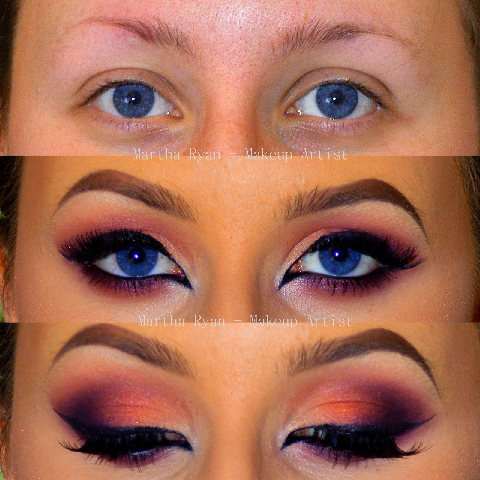 makeup by martha: blue eyed beauties - best colour combos! ♥