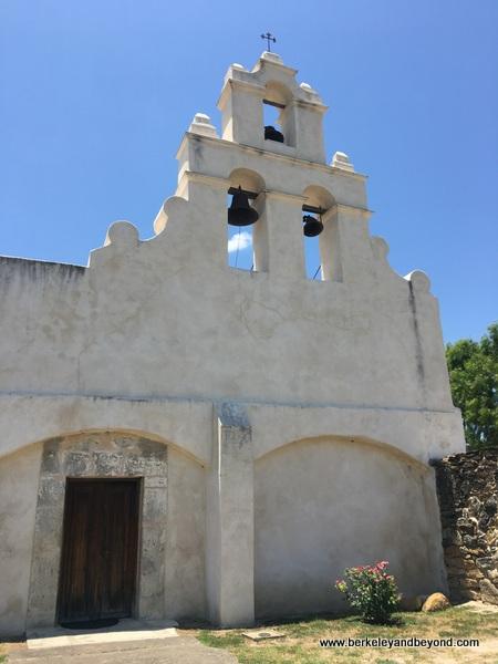 exterior of church at Mission San Juan in San Antonio Missions National Historical Park in San Antonio, Texas