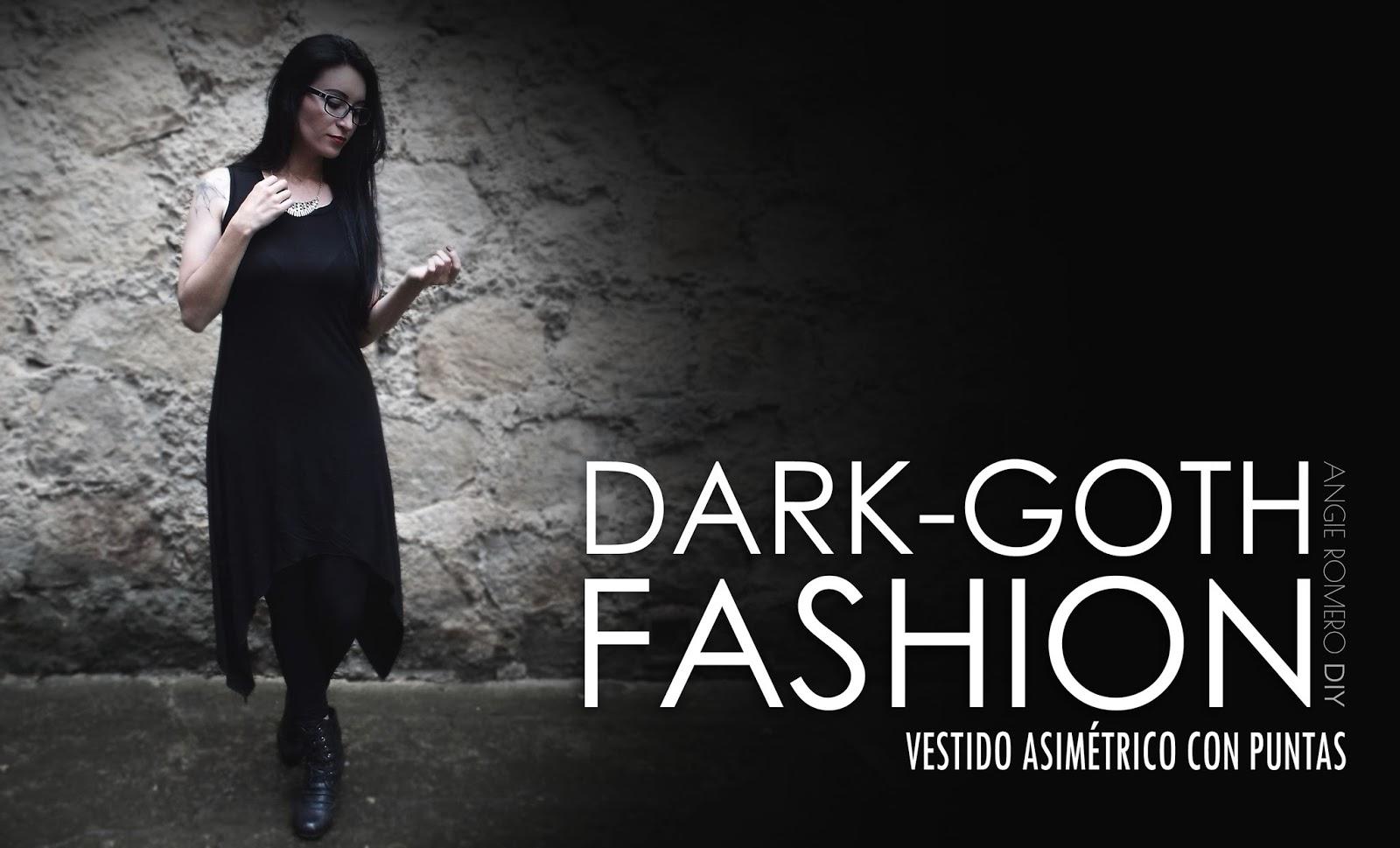 oth dark fashion como hacer vestido asimetrico con puntas estilo gotico