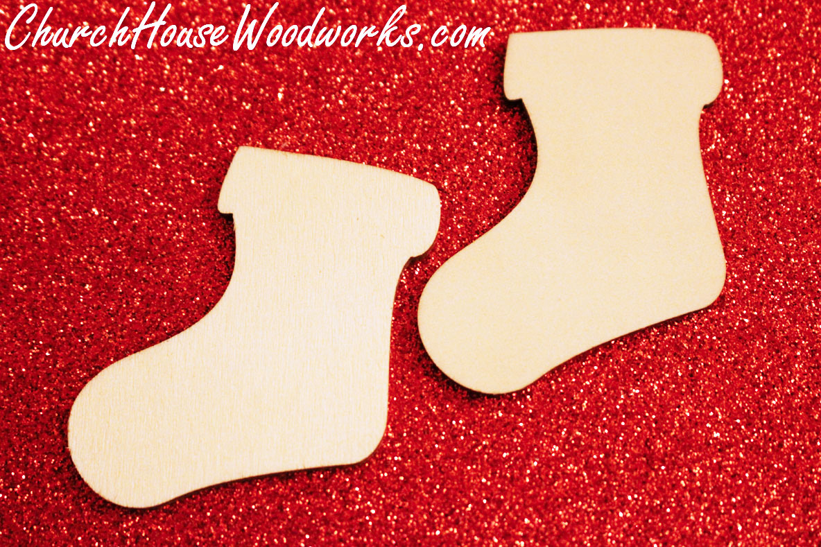 Rustic weddings wooden stocking ornaments christmas