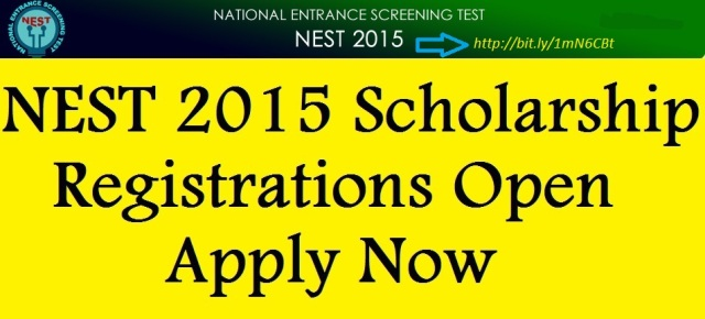NEST Application Form 2016, Last Date, Fee,Scholarship, NISER