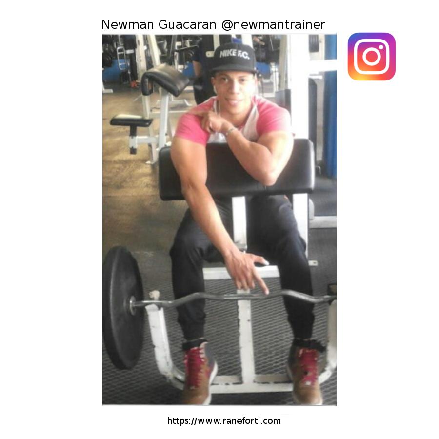 Newman Guacaran, profesional en el ámbito del entrenamiento deportivo con especialización en nutrición y dietética. | Rane Forti