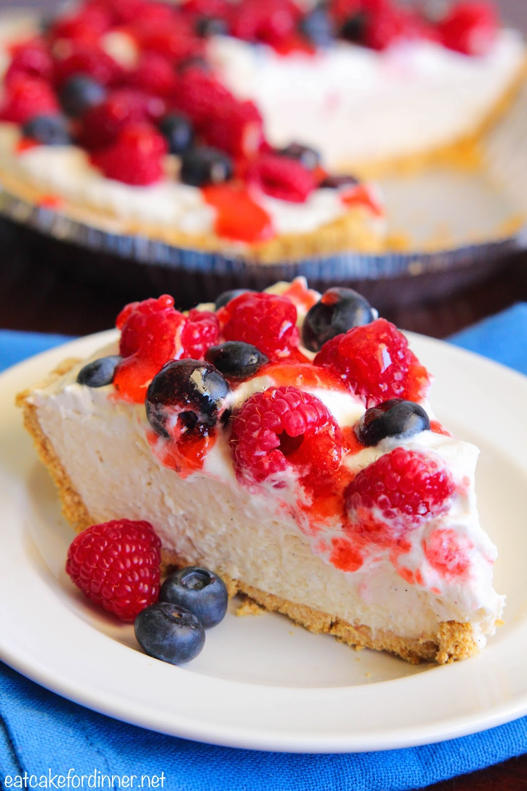 Eat Cake For Dinner: No-Bake Berry Vanilla Bean Pudding Pie