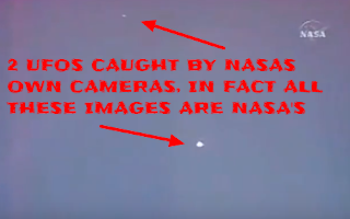 UFOs in space orbiting the International Space Station.