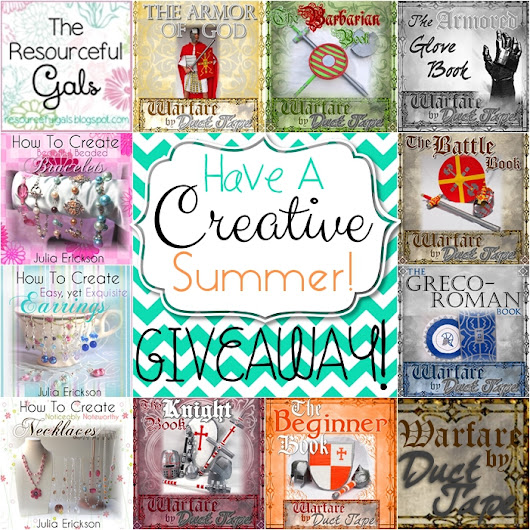 Have a Creative Summer - GIVEAWAY from Warfare by Duct Tape & Jewels by Julia!