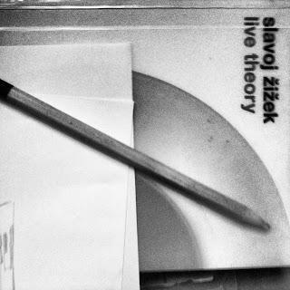 Slavoj Zizek Aesthetic Theory book drawing work