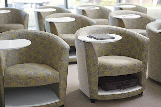 Lounge Chairs with Storage Compartments
