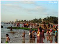 Eva Stone, New Year's Day, Mount Lavinia Beach, Sri Lanka