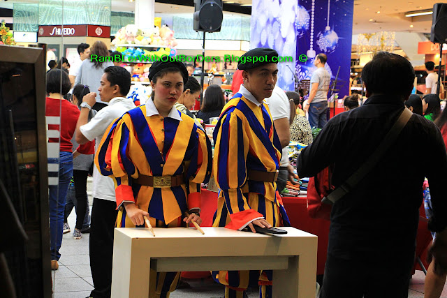 Security guards in Swiss Guards uniform, Landmark Mall, Makati, Manila, Philippines