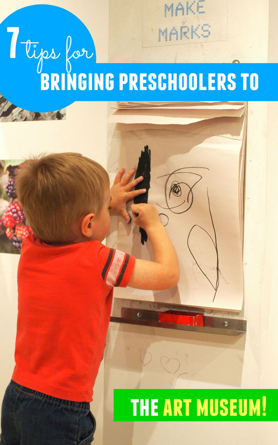 Here are 7 tips for making art museum visits enjoyable for you and your preschoolers!