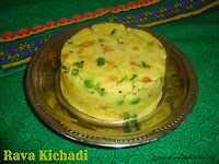 images of Rava Kichadi / Mixed Vegetable Rava Kichadi / Vegetable Rava Upma Recipe