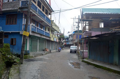 View of Reshep Bazar during Gorkhaland Bandh called by Morcha