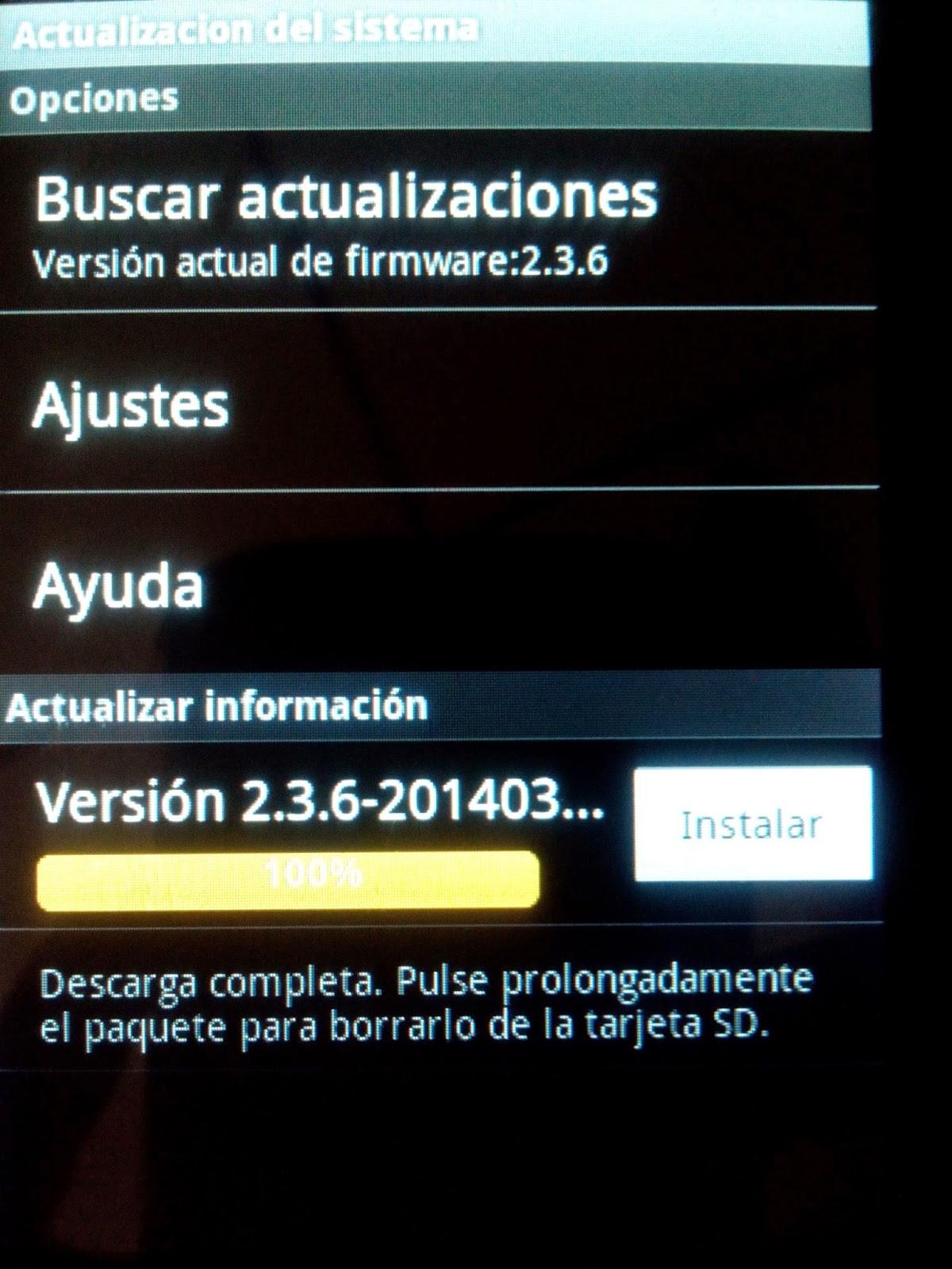 actualizacion del firmware actualizado para ser compatible con son