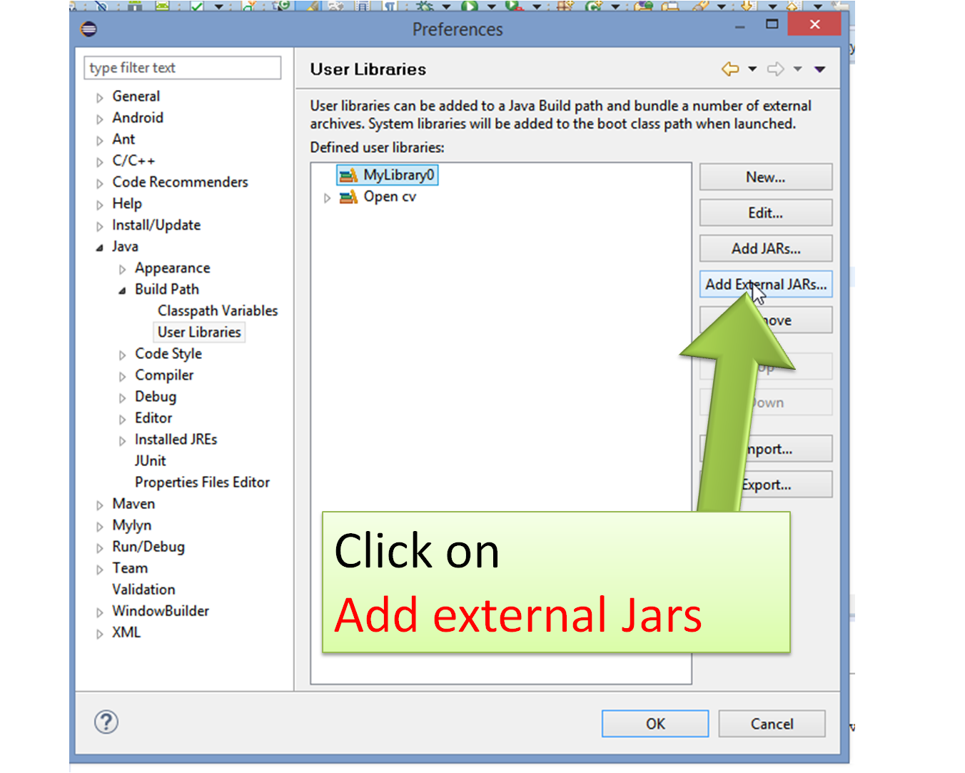 How to setup a  jar file in Eclipse IDE