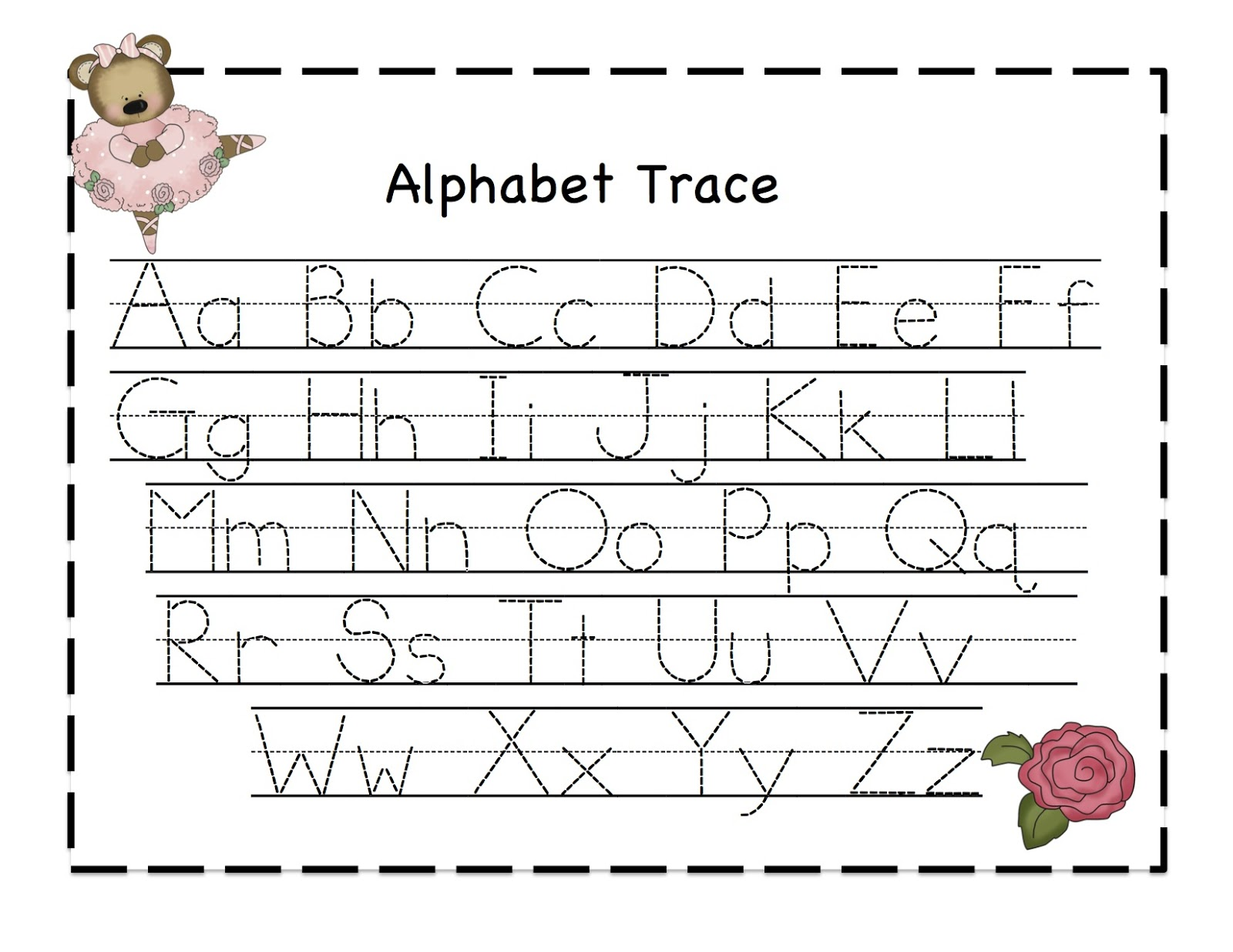 Worksheets Alphabet Tracing Letter A Along With Printable Letter ...
