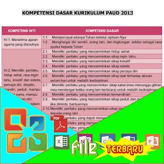 Download Kompetensi Dasar Kurikulum 2013 Paud Terbaru File Terbaru